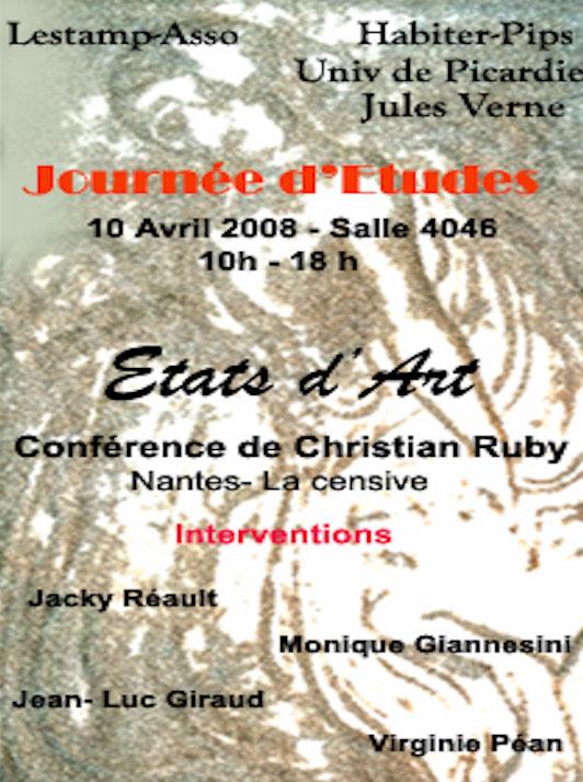Christian Ruby Jacky Réault Jean-Luc-Giraud, Olivier Lazarotti Joëlle Deniot Inaugurant  l'unité de Nantes de Habiter-Pips UPJV AMIENS